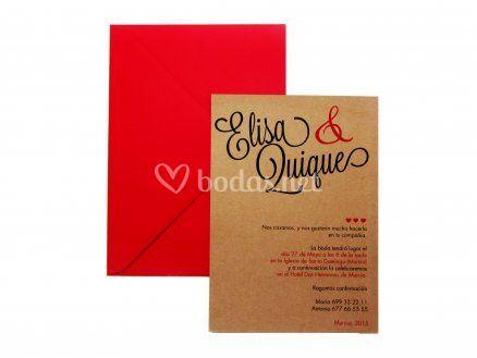 Invitaciones de boda exclusiva