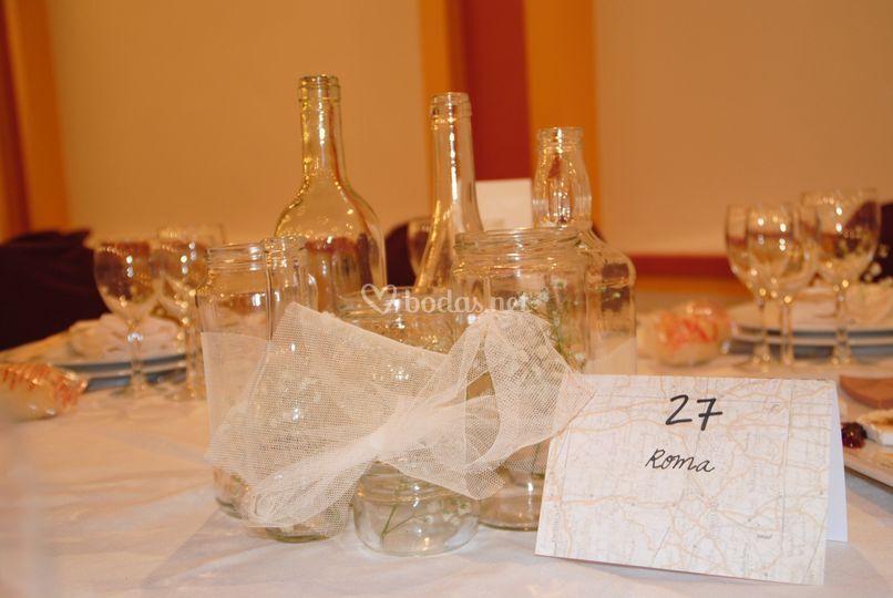 Detalle de boda en el interior