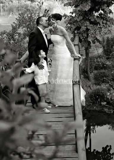 Beso en el puente