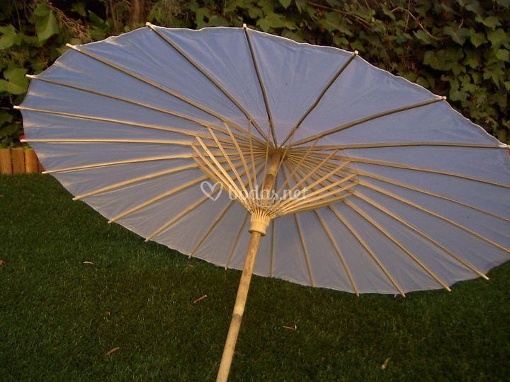 Parasol de papel Blanco