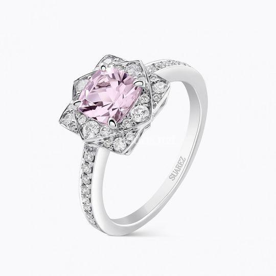 Sortija Morganita & Diamantes