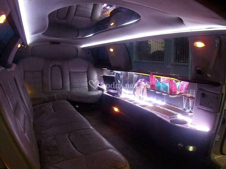 Interior de limusina