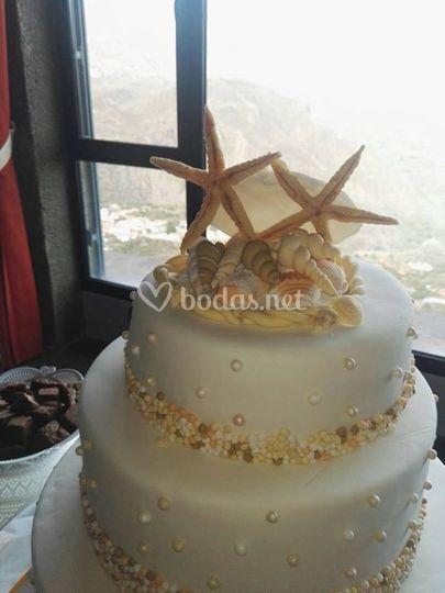 Detalle de la tarta