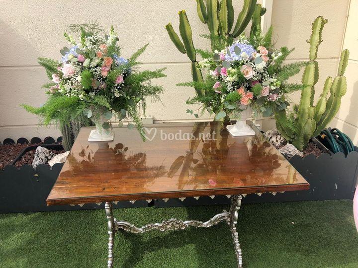 Copas de flores