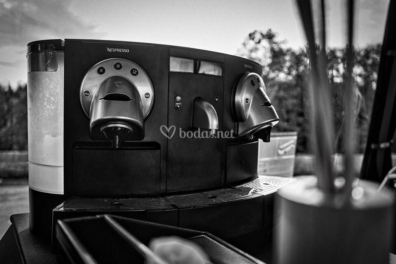 Café recién hecho a bordo