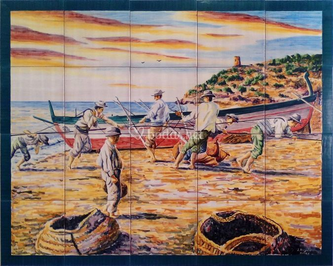 Escena de pesca