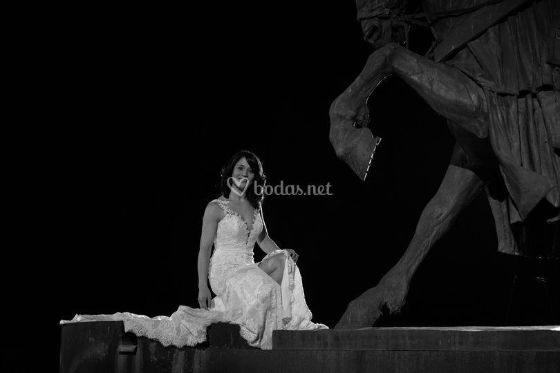 Dama y templario