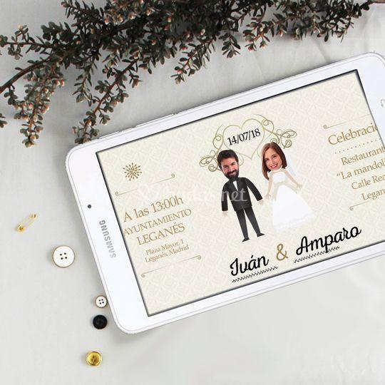 Invitación de boda digital