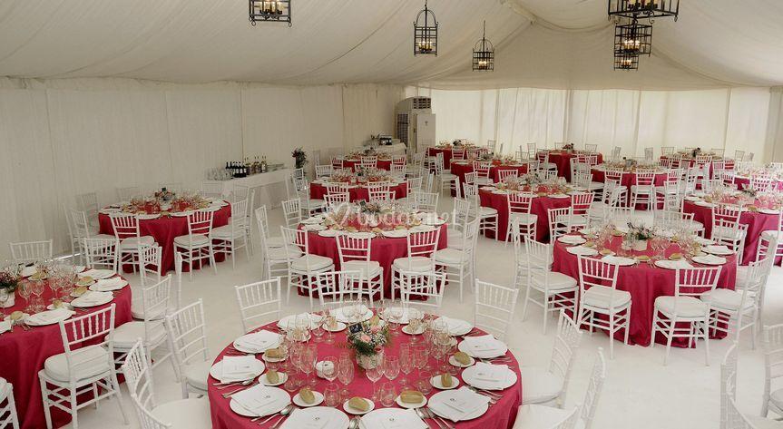 Montaje boda, casa particular