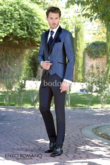 Enzo Romano Azul jaquard