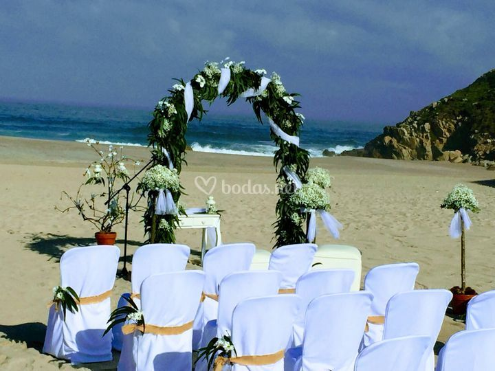 Boda civil en la playa