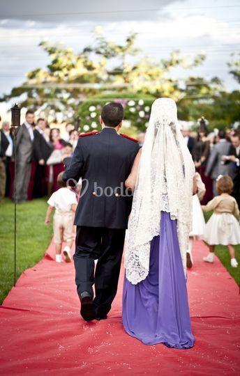 Entrada en la ceremonia