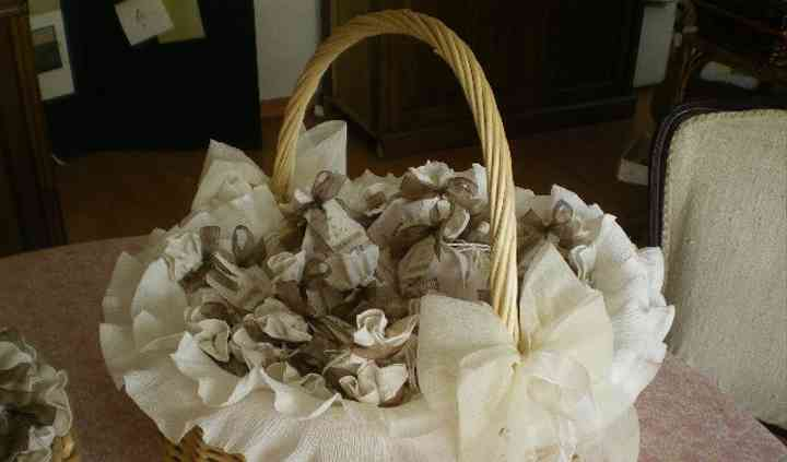 Cesta de regalos, saquito de algodon perfumados
