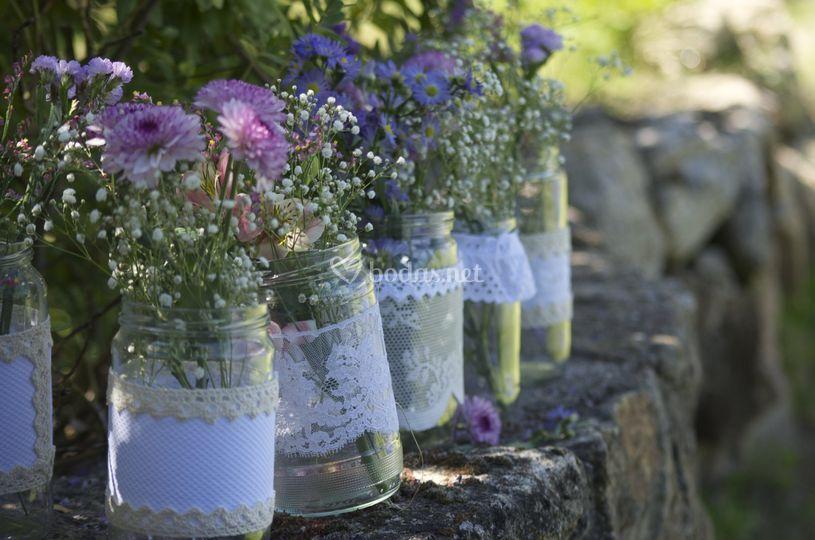 Detalle arreglos florales