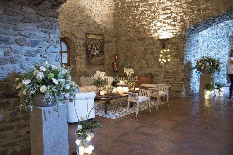 Detalle de deco boda castillo