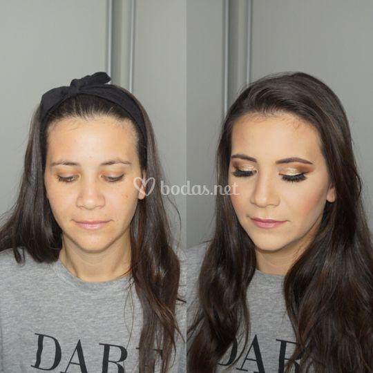 Maquillaje de novia o dama
