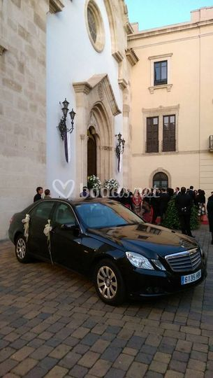 Llegada a la ceremonia