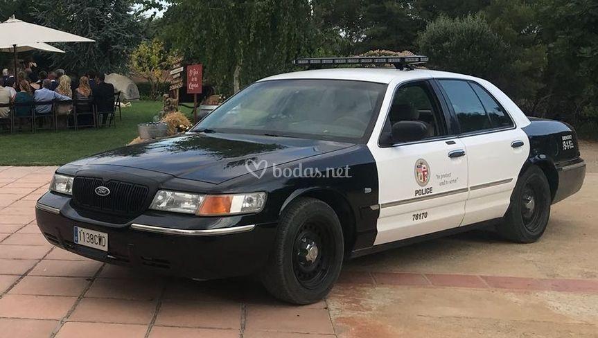 Coche de policía de Los Ängeles