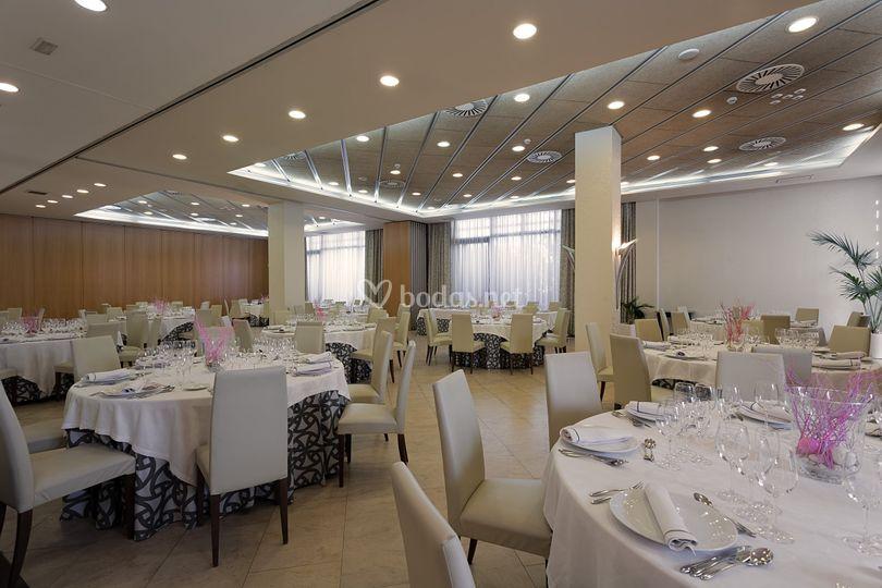 Vista salón boda