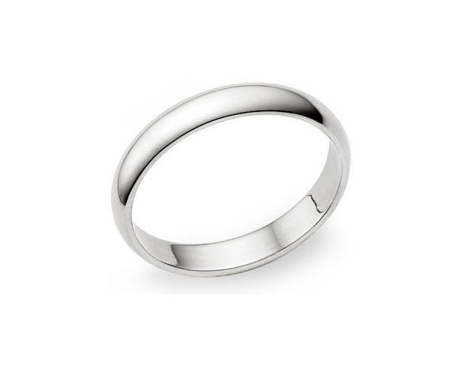 Alianza boda oro blanco
