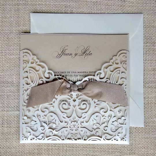 Invitación boda elegante
