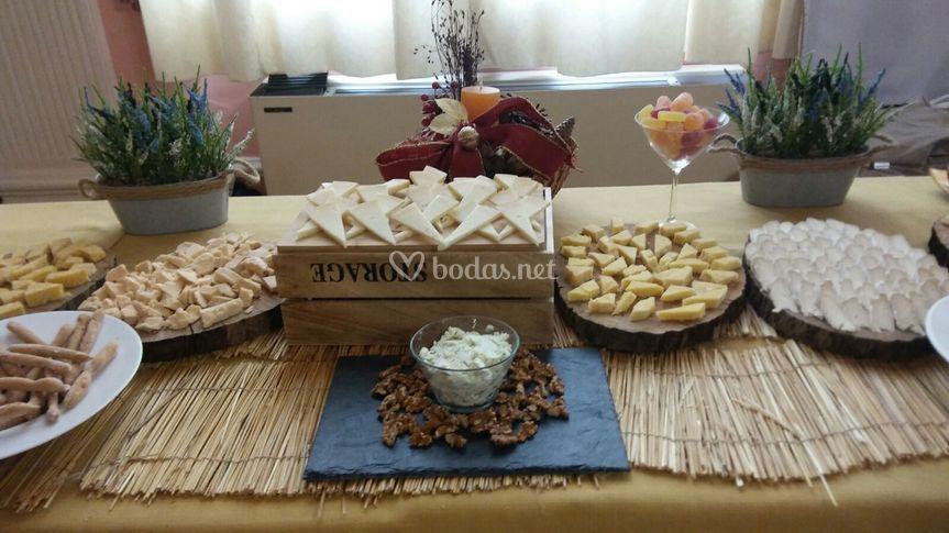 Mesa de quesos en evento