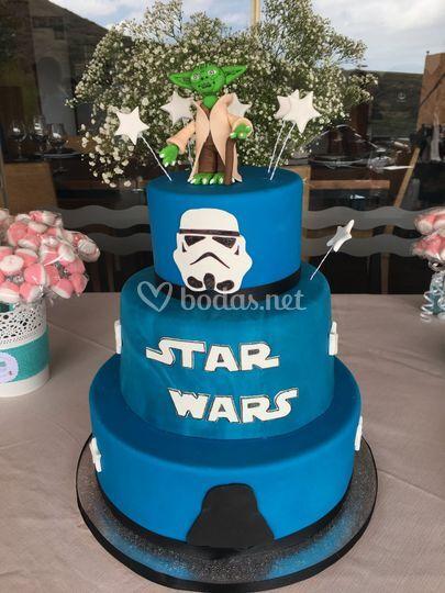 Tarta sin gluten de Star Wars