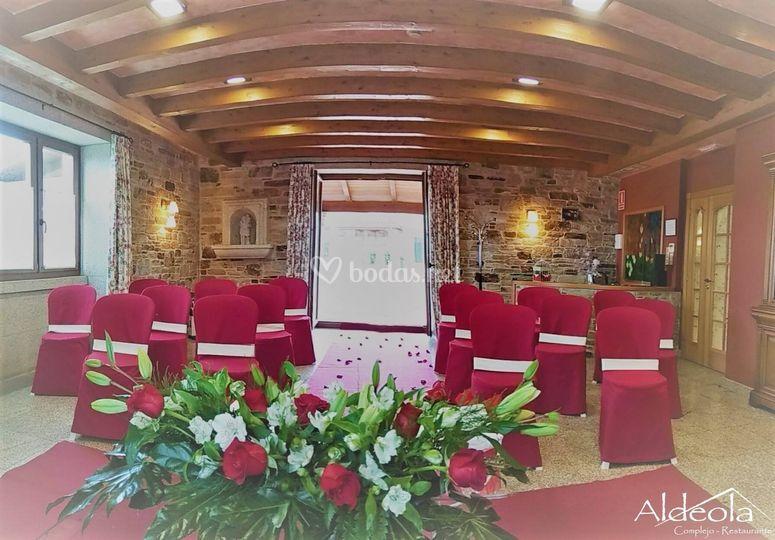 Ceremonia civil Salón Aldeola