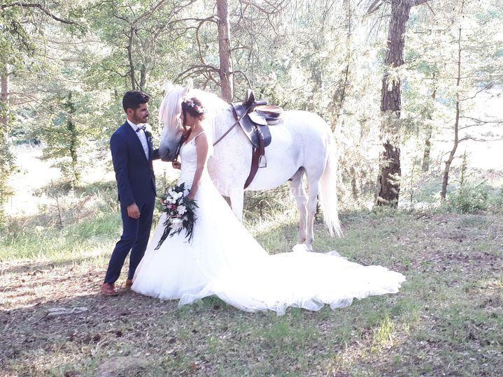 Reportaje con caballo montado