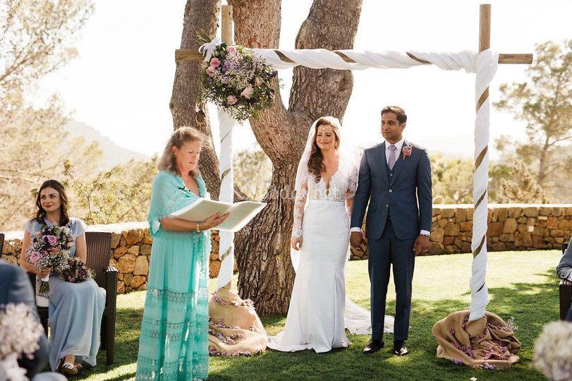 Nuestra oficiante en una boda