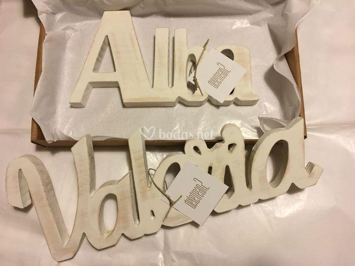 Letras gigantes
