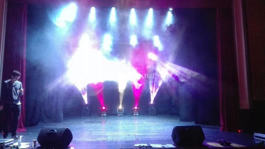 Iluminación del teatro