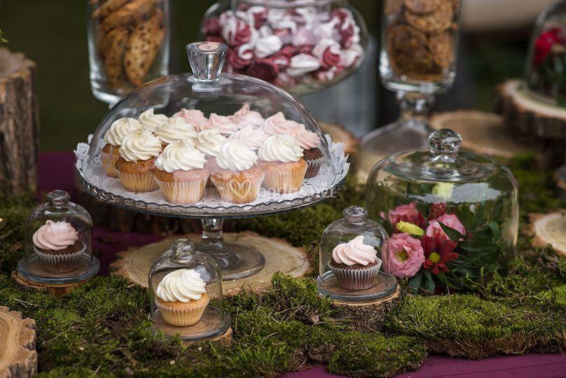 Decoración de mesa de dulces