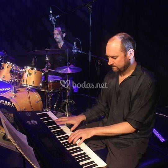 Pianista y batería