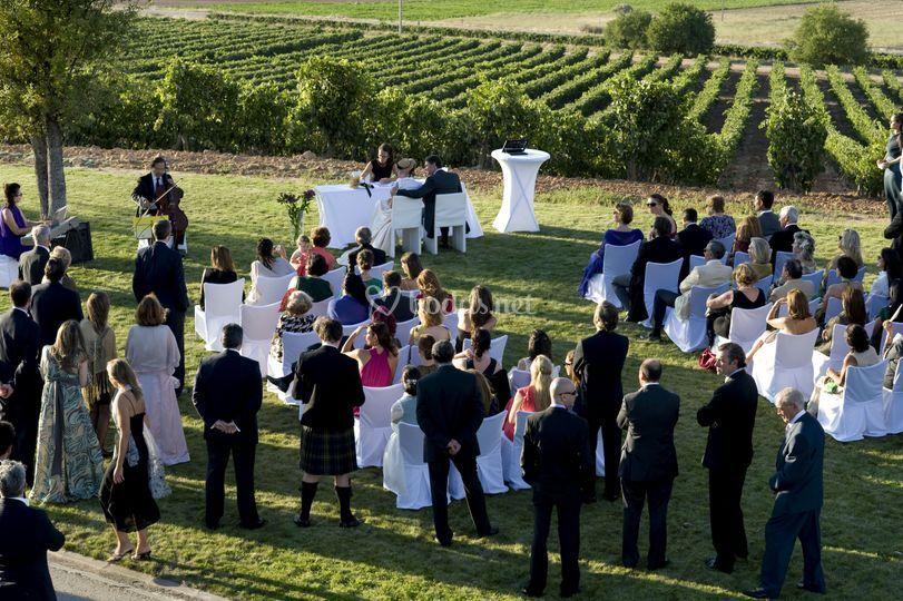 Ceremonia exterior jardín