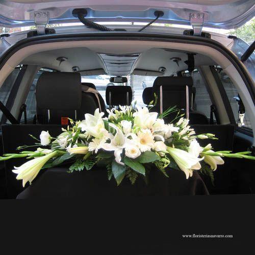 Flores coche boda