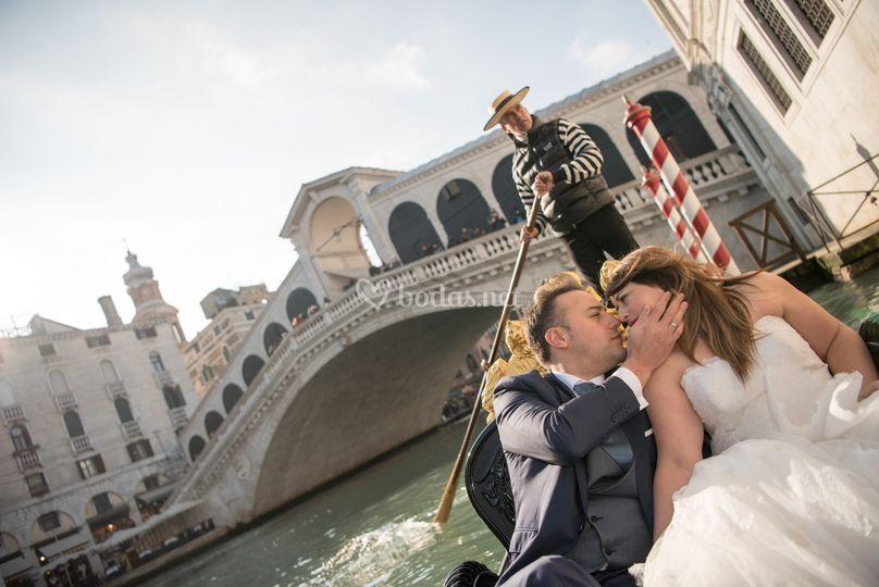 Postboda en Venecia