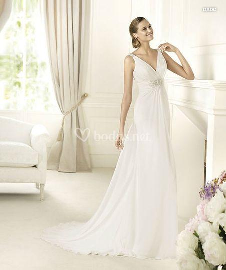 vestido novia griego pronovias – vestidos de noche