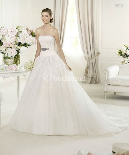 vestidos novia plumas pronovias