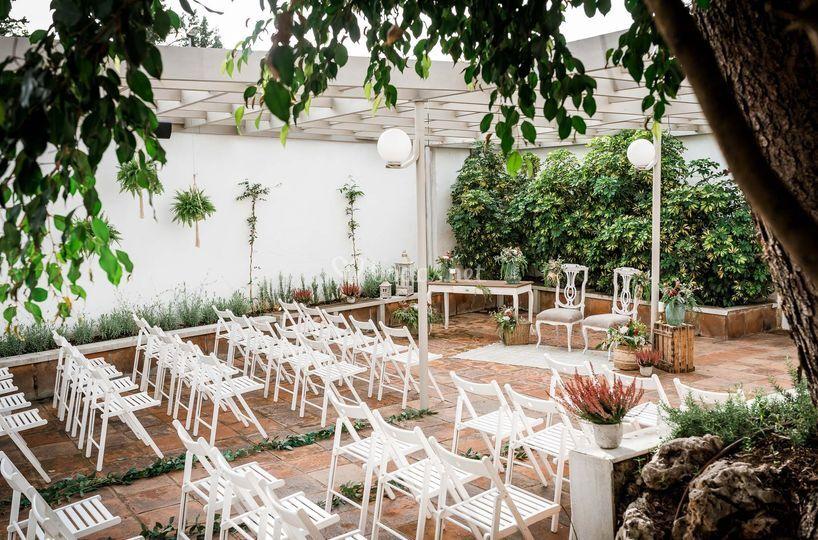 Terraza exclusiva ceremonia
