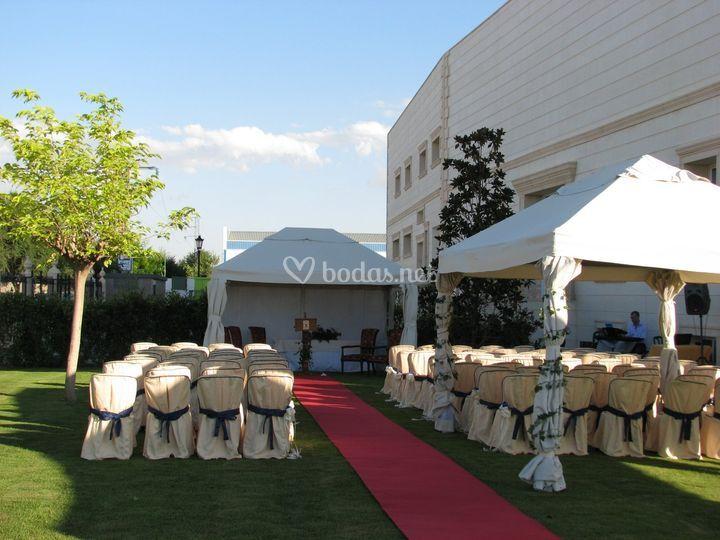Ceremonias en jardines hotel