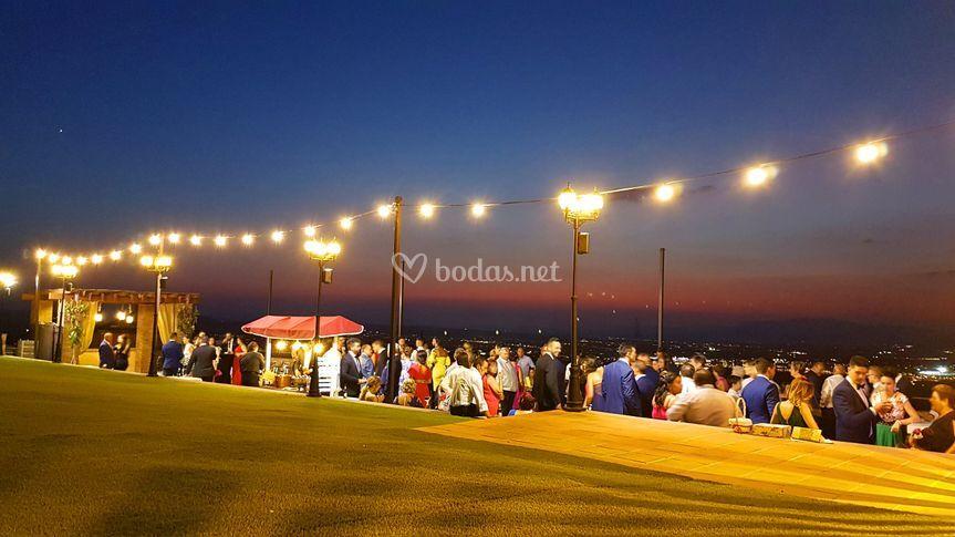 Copa de bienvenida terraza