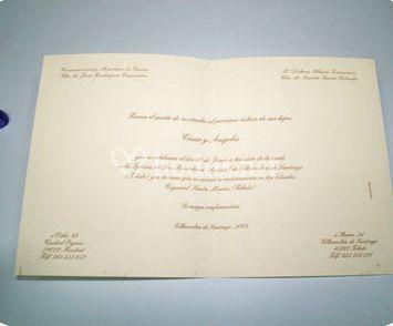 Ref CE1003 Invitaciones de Boda