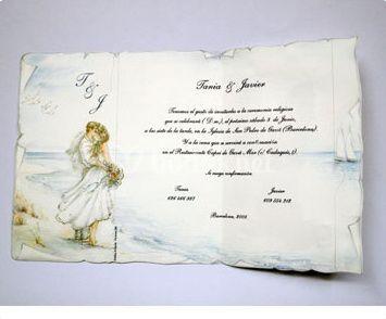 Ref CE1006 Invitaciones de Boda