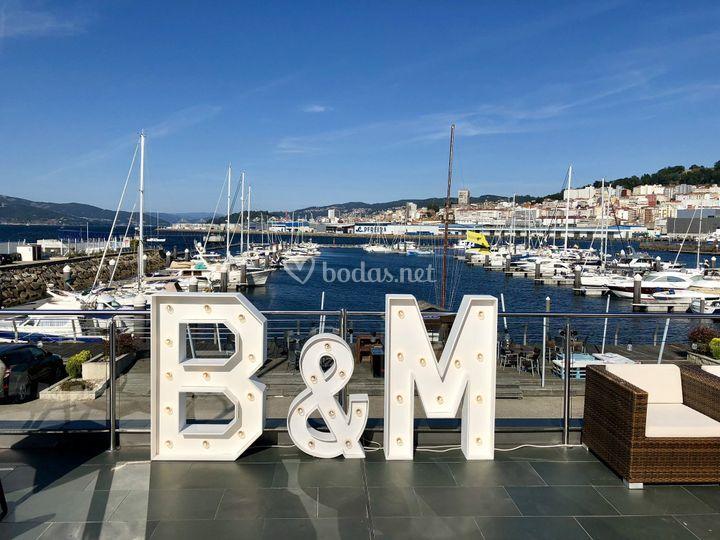 B&M en la terraza