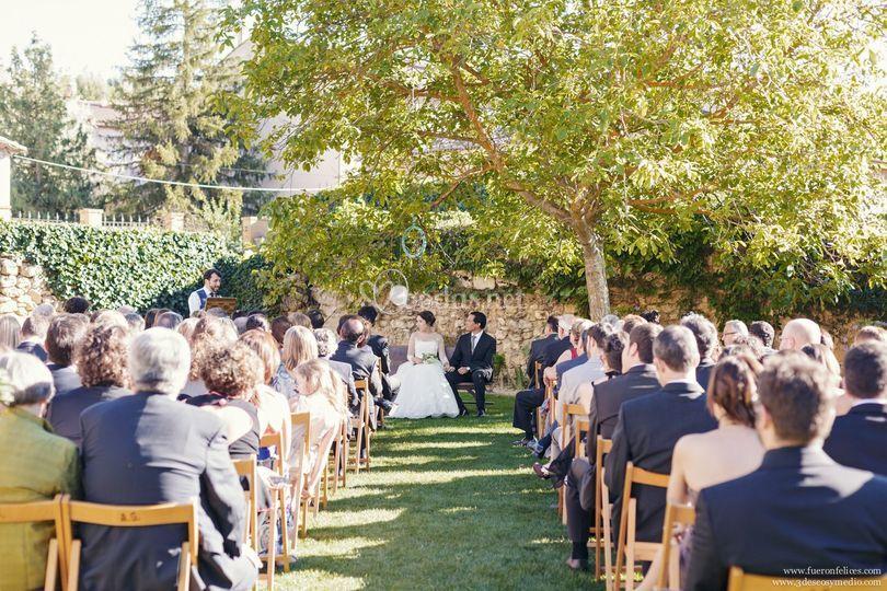 Ceremonia en el jardin palacio