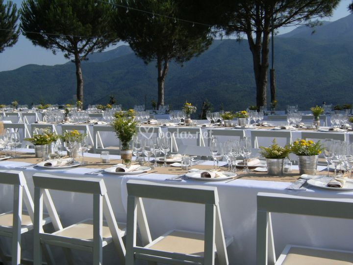 Mesas a la italiana