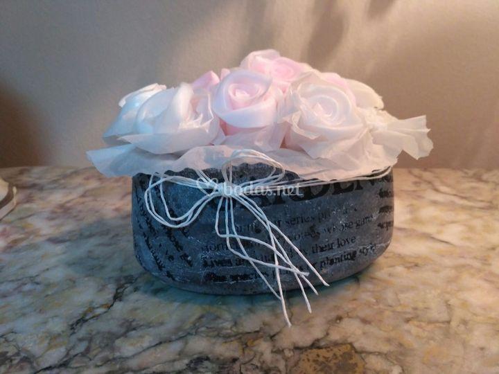 Bouquet rosas de jabón