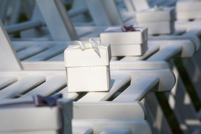 Cajitas regalo para invitados