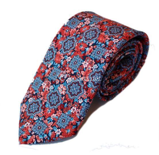 Carbata geométricos y flores